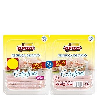 ElPozo Pechuga de pavo en lonchas finas Pack de 2x150 g