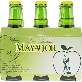 Mayador Sidra refrescante asturiana Pack 6 botellines x 25 cl