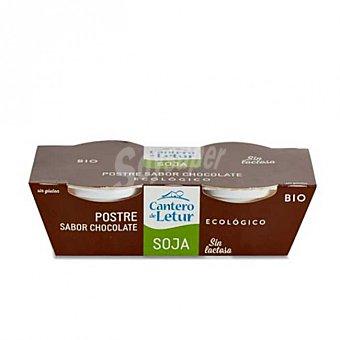 El Cantero de Letur Natillas de soja ecol. de choco. Pack 2x125 g