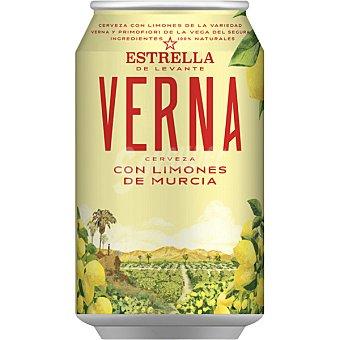 Estrella Levante Verna cerveza rubia con limones de Murcia lata 33 cl lata 33 cl