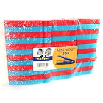 MONDEX Its080/36 Pinzas Plastico Econ Pack 36unid