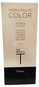Deliplus Crema facial hidratante color tierra tostada Tubo de 30 cc