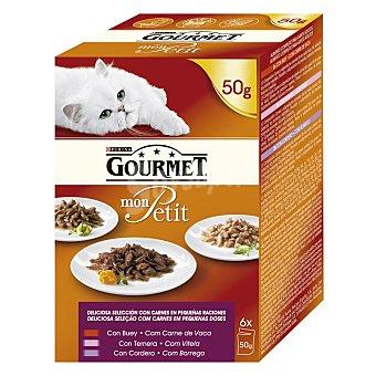 Gourmet Alimento para gatos varios sabores caja 6 x 50 gr