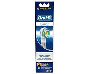 Oral-B recambio de cepillo dental 3D White EB-18 blister  2 unidades