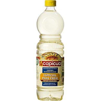 Capicua Aceite de girasol alto oleico especial para freír Botella 1 l