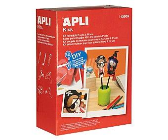 APLI Kit para hacer tus propios Fofulápices, brujita más pirata, diy, hazlo tu mismo 1 unidad