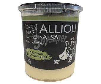 Casa Mas Salsa alioli, receta artesana, sin conservantes ni colorantes 135 g