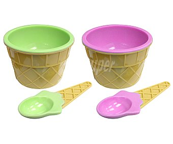 FACKELMANN Set de helados, 2 bowls más 2 cucharas 1 unidad