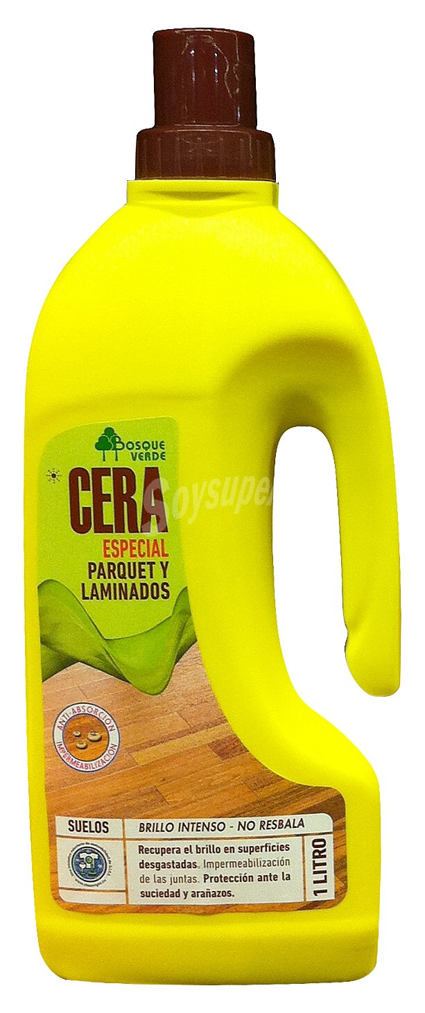 Bosque verde cera suelos autobrillante parquet botella 1 l - Cera para suelos ...