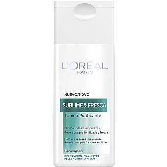 Dermo Expertise L'Oréal Paris Tónico facial purificante Sublime & Fresca piel normal/mixta frasco 200 ml