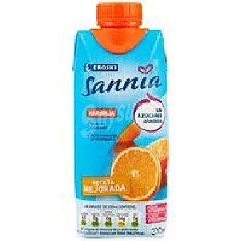 Eroski Sannia Naranja sin azúcar añadido Brik 33 cl