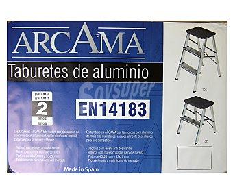 ALTIPESA Taburete de aluminio lacado blanco con 3 peldaños 1 Unidad