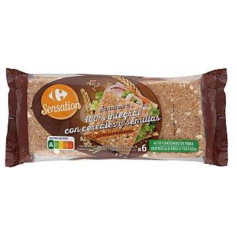 Carrefour Pan sándwich integrar con cereales y semillas 320 G 320 g