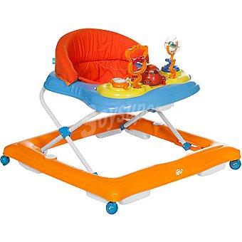 INNOVACIONES MS andador con sonido, luz y actividades en color rojo, naranja y azul +6 meses