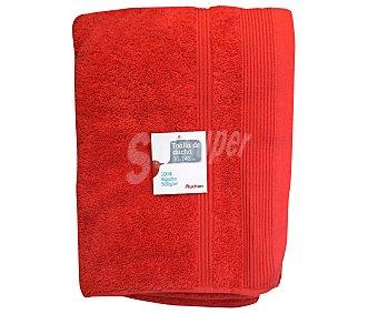 AUCHAN Toalla para ducha de algodón, color naranja, 70x140 centímetros, densidad de 500 gramos/m² 1 Unidad