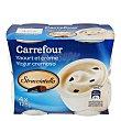 Yogur cremoso stracciatella Pack de 4x125 g. Carrefour