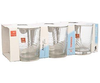 BORMIOLI Pack de 6 vasos de agua modelo Arcos, con capacidad de 27 centilitros y fabricados en vidrio 1 Unidad