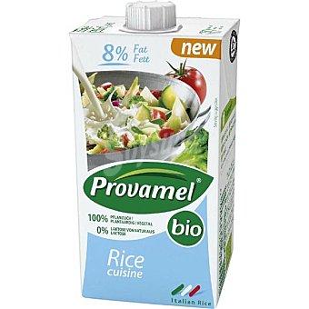 SANTIVERI PROVAMEL Bio Nata de arroz 100% vegetal sin lactosa para cocinar Envase 250 cc