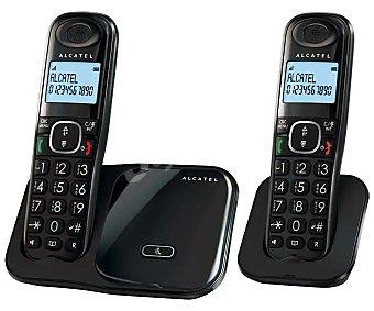 Alcatel Teléfono inalámbrico dúo XL280, identificador llamadas, manos libres, agenda 50 contactos,, teclas grandes identificador llamadas, manos libres, agenda 50 contactos,, teclas grandes