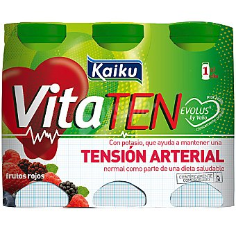 Kaiku Yogur líquido frutos rojos VitaTen Pack 6 unidades 65 ml