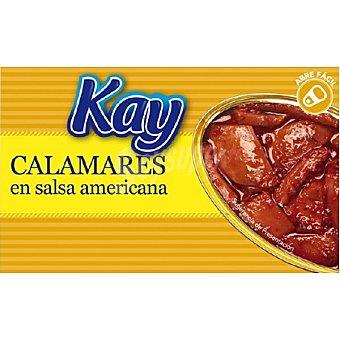KAY Calamares en salsa americana Lata 72 g neto escurrido