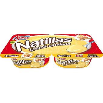 Kalise Natillas sabor a crema catalana pack 2 unds. 135 g Pack 2 unds. 135 g