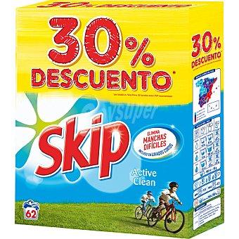 Skip Detergente máquina polvo Active Clean maleta 62 cacitos Maleta 62 cacitos