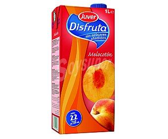 Juver Néctar de melocotón sin azúcar Disfruta Brik de 1 litro