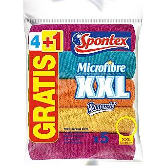 Spontex Bayeta Microfibra Tamaño XXL 38x40 cm Blister 4 uds