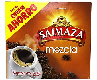 Saimaza Café molido mezcla Pack 2 paquetes 250 g