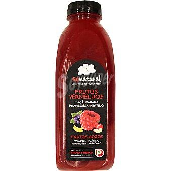 SONATURAL Zumo de frutos rojos sólo con fruta fresca Botella 750 ml