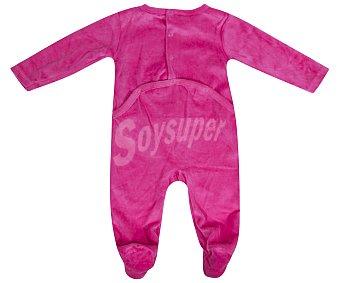 In Extenso Pijama pelele de bebe aterciopelado, color fuxia, talla 86