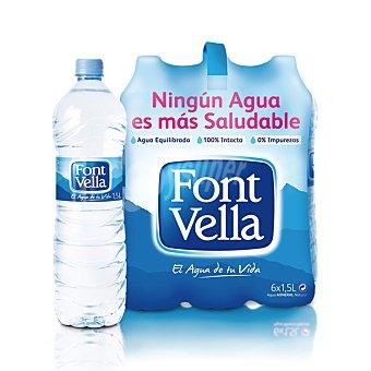Font Vella Agua mineral 6 botellas de 1,5 litros