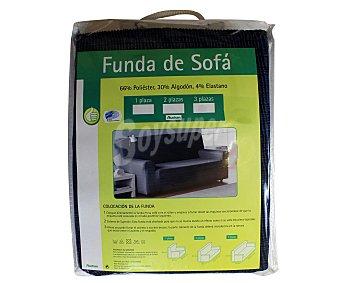 Productos Económicos Alcampo Funda elástica para sofá de 1 plaza, color azul 1 Unidad