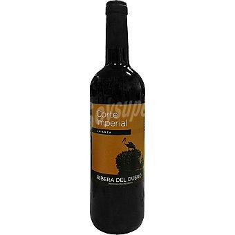 CORTE IMPERIAL Vino tinto crianza D.O. Ribera del Duero elaborado para grupo El Corte Inglés Botella 75 cl