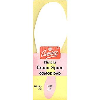 CUMBRE Plantilla goma-espuma 39-40 Paquete 1 unidad