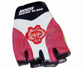 Auchan Par de guantes fabricados en Licra y Kevlar, sin dedos, con tejido exterior transpirable y ligero y con palma reforzada antideslizante 1 Unidad