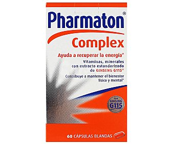 Pharmaton Complex Complemento alimenticio vitaminas y minerales con extracto de ginseng Bote 60 cápsulas