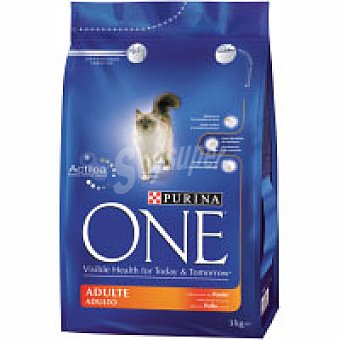 One Purina Alimento de pollo para gato adulto 3 kg