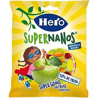Hero Gominolas con 50% de fruta Supernanos Bolsa de 80 g