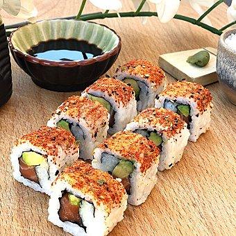 Sushispot Uramakis de salmón y aguacate 8 unidades bandeja 160 g 8 unidades