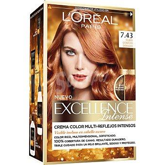 L'Oréal Paris Tinte Rubio Cobrizo Dorado nº 7.43 caja 1 unidad crema color multi-reflejos intensos Caja 1 unidad