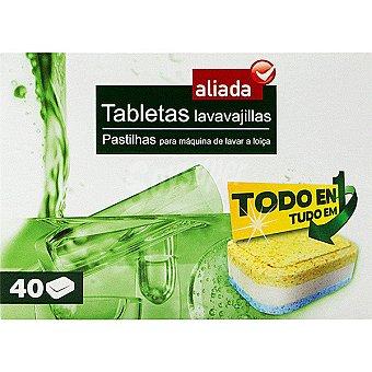 Aliada Detergente lavavajillas todo en 1 caja 40 pastillas