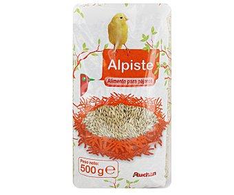 Auchan Alpiste, alimento para pájaros 500 gramos
