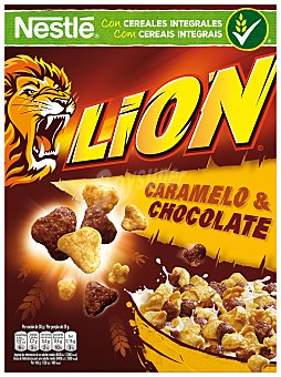 Lion Nestlé Cereales con caramelo y chocolate Caja 400 g