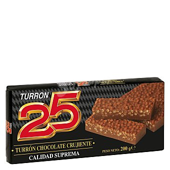 25 Turrón de chocolate crujiente 200 g
