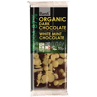 Plamil Chocolate negro 87% cacao y chocolate blanco con menta Unidad 50 g
