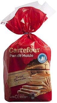 Carrefour Pan de molde larga duración 550 g