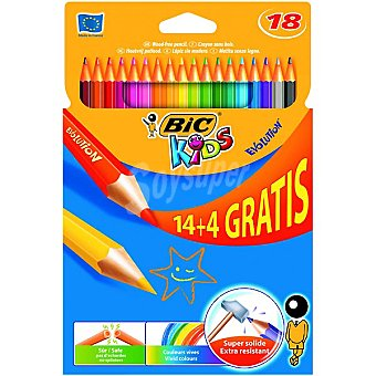 BIC Kids Estuche con rotuladores 14 de colores + 4 gratis