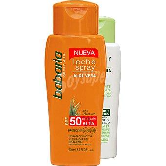 Babaria Leche solar aloe vera FP-50 frasco 200 ml + after sun aloe vera frasco 150 ml Frasco 200 ml